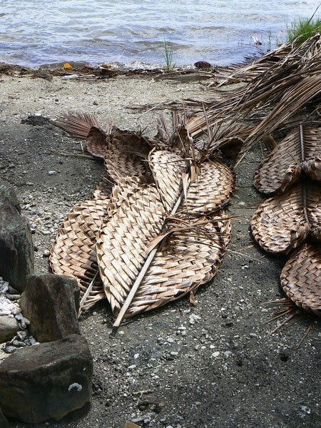 Coconut leaves braided