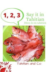 Red fish for counting lesson in Tahitian