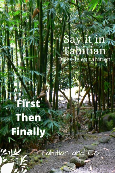 Tahitian bamboo forest with a walking way. To learn first, then, finally in Tahitian