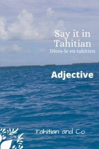 Blue sea to learn adjectives in Tahitian with Tahitian and Co