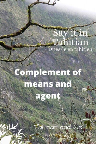 Tahitian mountain to learn complement of means and agent in Tahitian
