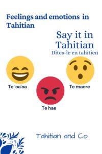 Emojis to learn feelings and emotions in tahitian