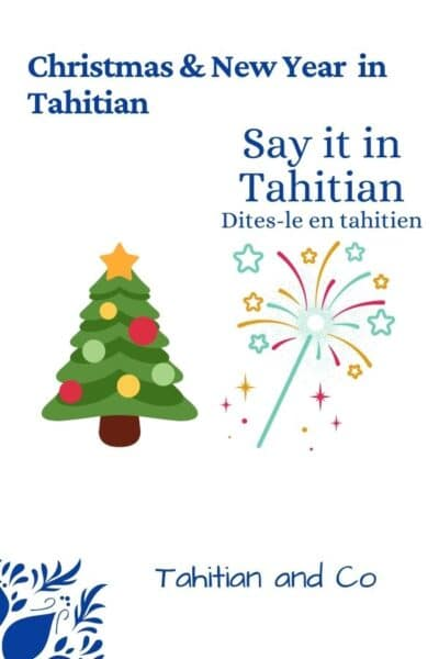 A Christmas tree and some fireworks to learn Christmas and New Year vocabulary in Tahitian