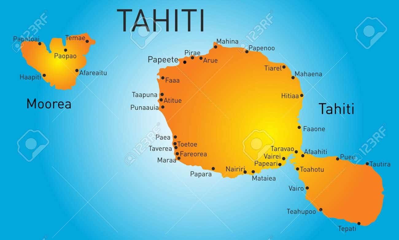 Tahiti map