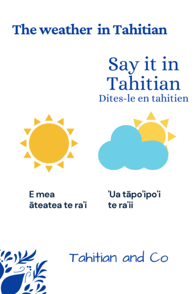 Learn how to describe the weather in Tahitian with Tahitian and Co